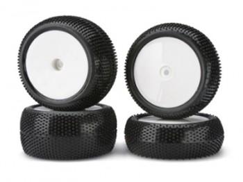 Carson 50 090 0099 Reifen mit Felgen weiß (4)