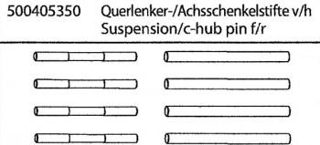 Carson 50 040 5350 X10EB Querlenker / Achsschenkelstifte