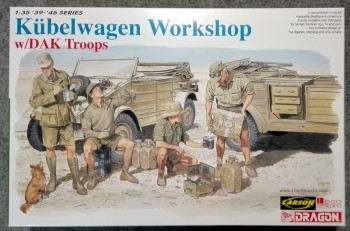 Dragon 6338 Kübelwagen Workshop w/DAK Troops M1:35