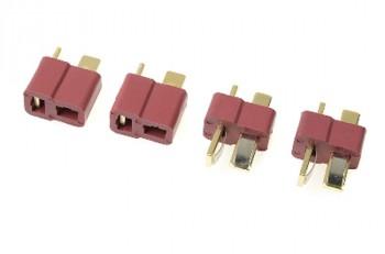 T-Steckverbindung 2 Paar vergoldet