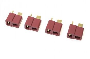 T-Steckverbindung 4x Buchse vergoldet