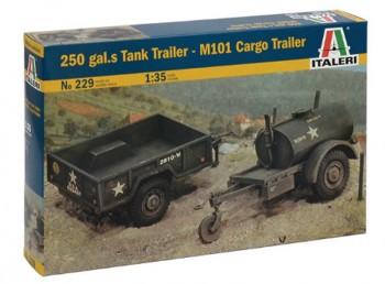 Italeri 229 TankTrailer + M101 KargoTrailer M1:35