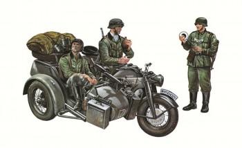 Italeri 317 Motorrad-Gespann Zündapp KS750 M1:35