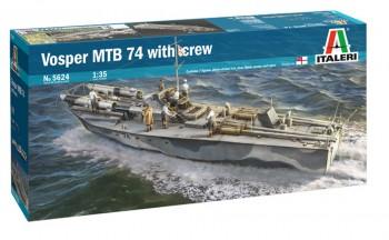Italeri 5624 Vosper MTB 74 mit Crew 1:35