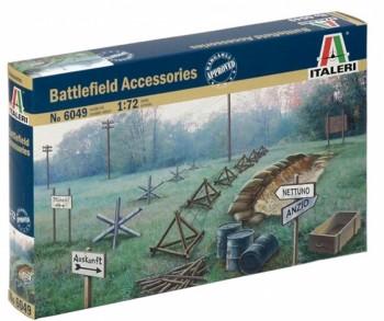 Italeri 6049 Zubehör Schlachtfeld WWII M1:72