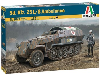 Italeri 7077 Sd.Kfz. 251/8 Ambulance 1:72
