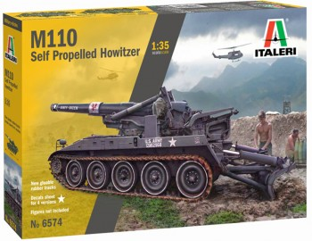 Italeri 6574 M110 Self Propelled Howitzer 1:35