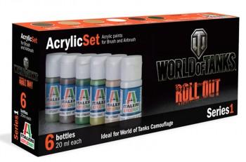 Italeri Acrylfarben-Set World of Tanks Roll Out 6x20ml (100ml=11,08)