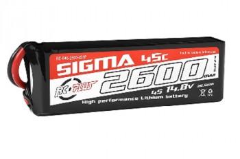2600mAh 14.8V 4S RC Plus Sigma 45C