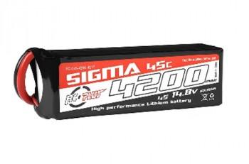4200mAh 14.8V 4S RC Plus Sigma 45C