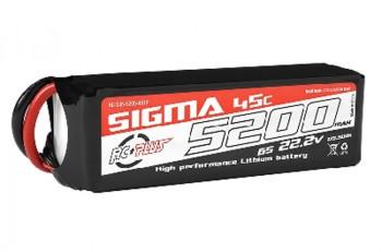 5200mAh 22.2V 6S RC Plus Sigma 45C