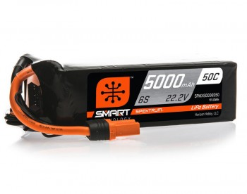 5000mAh 22.2V 6S Spektrum IC5 Lipo Akku 50C