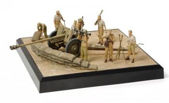 Tamiya Diorama-Set PaK 36(r) Nordafrika mit Trupp 1:35 32408