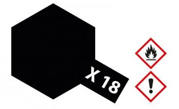 X-18 Schwarz seidenmatt 23ml (100ml=13,04€)
