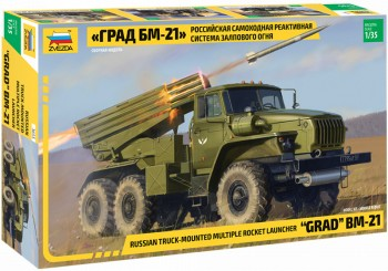 Zvezda 3655 BM-21 Rocket Launcher M1:35