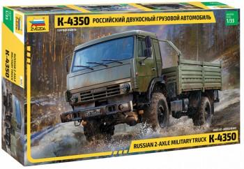 Zvezda 3692 Russian 2-Axle Military Truck K-4350 M1:35