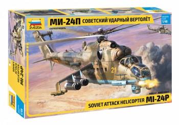 Zvezda 4812 MIL Mi-24P Soviet attack helicopter M1:48