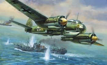 Zvezda 7282 WWII Dt Bomber Junker JU-88A4 1:72