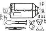 Carson 50 040 5358 X10EB Chassis- + Anbauteile-Set