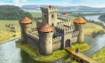 Zvezda 8512 Medieval Stone Castle M1:72
