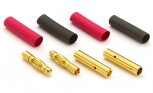 Goldkontakt Stecker Set 4mm (2 Paar)