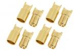 Goldkontakt Stecker Set 6mm (4Paar)