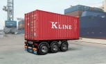 Italeri 3887 20' Container Trailer 1:24