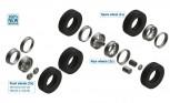 Italeri 3909 Reifen-/Felgen-Set Euro 1:24