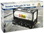 Italeri 3929 Tecnokar Trailer w/ 20ft Tank 1:24
