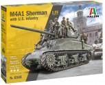 Italeri 6568 M4A1 Sherman + U.S. Infantry 1:35