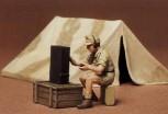 Tamiya WWII Diorama-Set Zelt mit Funk 1:35 35074